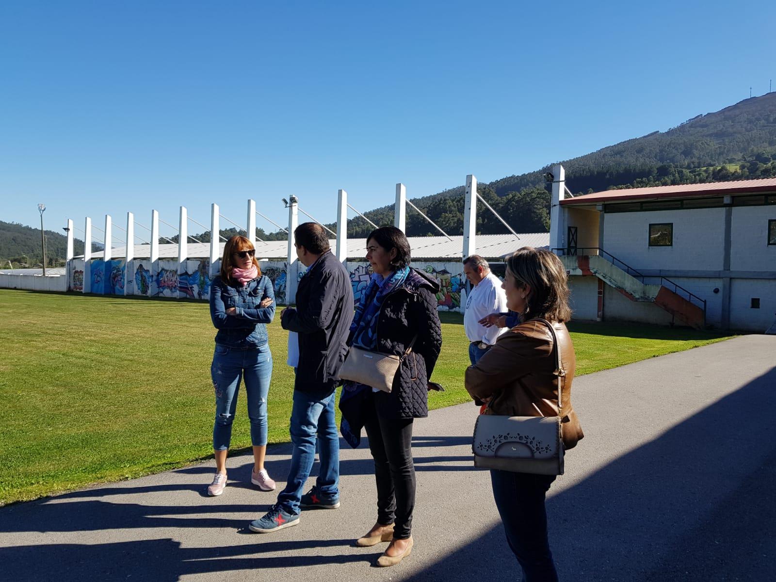 Visita ao campo de fútbol de Viñas da Veiga