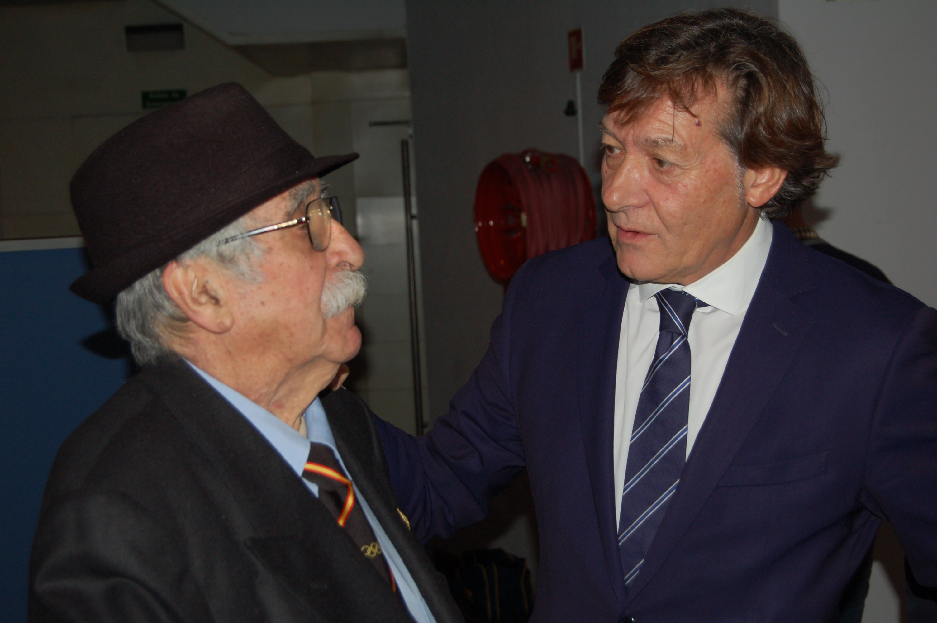 José Ramón Lete Lasa con José Luis Torrado