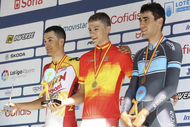 Martín Bouzas, 3º clasificado na contrarreloxo dos Campionatos de España Sub23