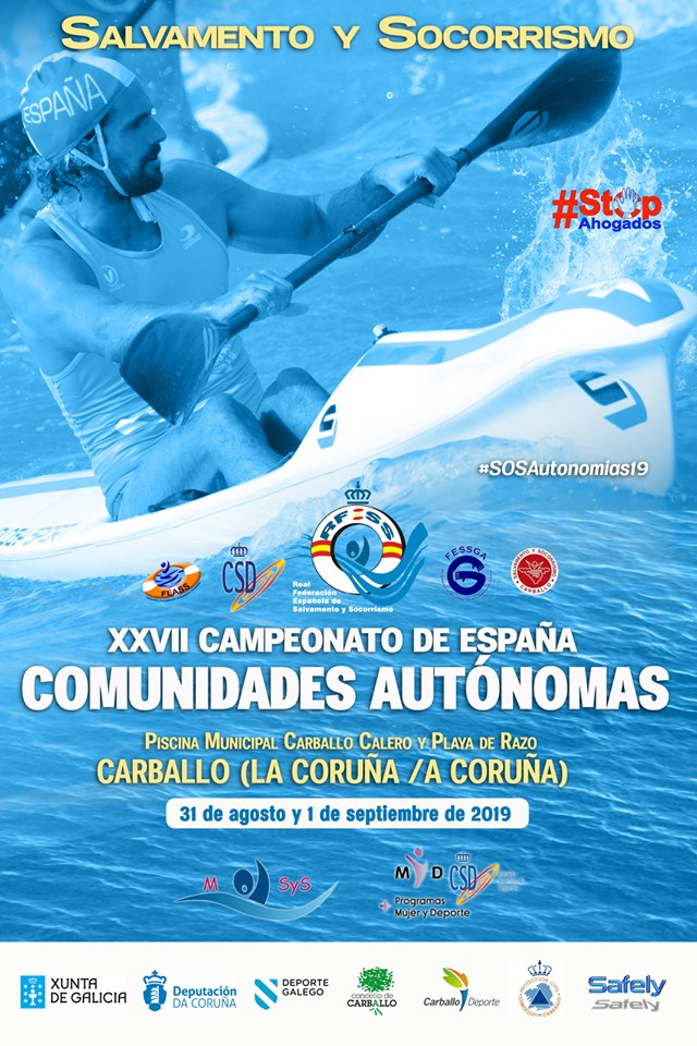 CARTEL XXVII Campionato de España de Salvamento e Socorrismo por Comunidade autónomas
